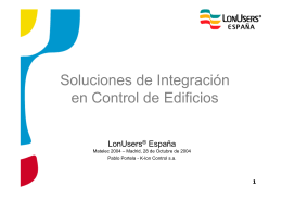 Soluciones de Integración en Control de Edificios
