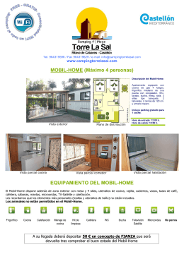 Equipamiento Mobil-Home - Camping playa Torre La Sal