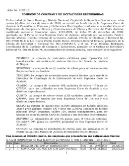1 Acta No. 14/2010 COMISIÓN DE COMPRAS Y DE LICITACIONES