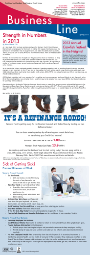It`s a Refinance Rodeo! - Members Trust of the Southwest FCU
