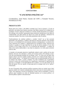 """""""CANCIONES POLÍTICAS"""""""