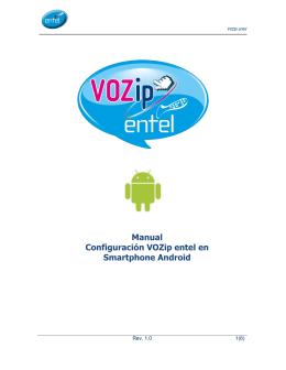 Manual Configuración VOZip entel en Smartphone Android
