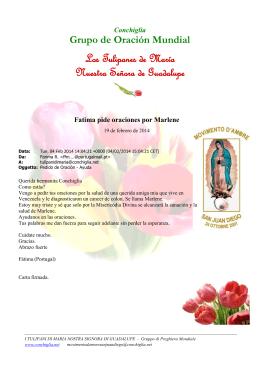 Preghiera Tulipani di Maria