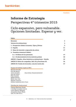 Informe de Estrategia Perspectivas 4º trimestre 2015