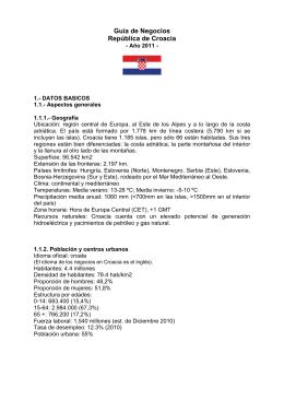 Guía de Negocios República de Croacia
