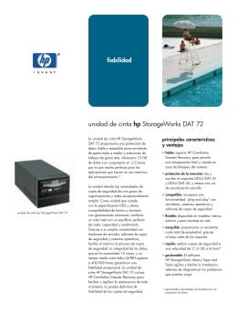 unidad de cinta hp StorageWorks DAT 72