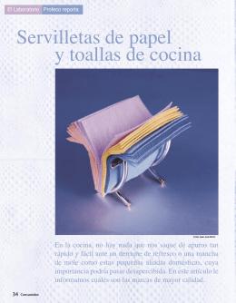 Servilletas de papel y toallas de cocina