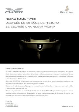 NUEVA GAMA FLYER DESPUéS DE 30 AñOS DE