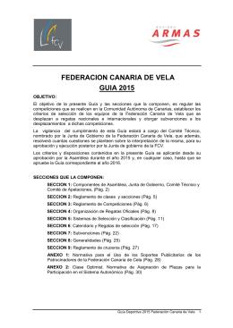 FEDERACION CANARIA DE VELA GUIA 2015
