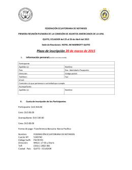 el formulario de inscripción al evento