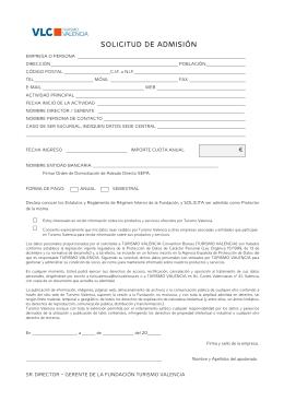 Solicitud de admisión por escrito
