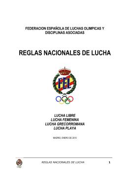 REGLAS NACIONALES DE LUCHA - Federación Galega de Loita