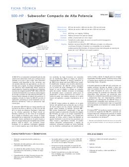 500-HP : Subwoofer Compacto de Alta Potencia