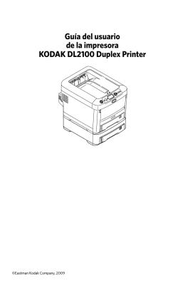 Guía del usuario de la impresora KODAK DL2100 Duplex