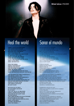 Heal the world Sanar el mundo