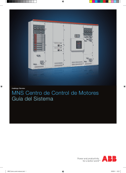 MNS Centro de Control de Motores Guía del Sistema