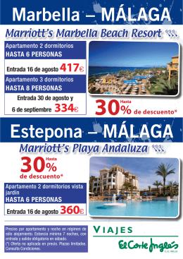 Marbella – MÁLAGA Estepona – MÁLAGA