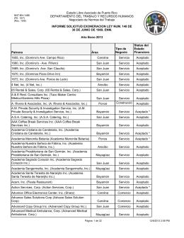 Informe solicitudes de exoneración bono aceptadas