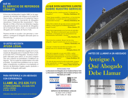 Antes de llamar a un abogado - New York City Bar Association