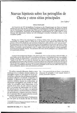 Nuevas hipotesis sobre los petroglifos de Checta y otros sitios