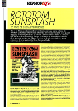 View full article - Rototom Sunsplash
