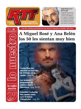 A Miguel Bosé y Ana Belén los 50 les sientan muy