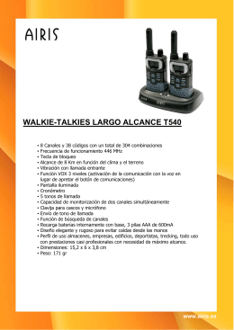 WALKIE-TALKIES LARGO ALCANCE T540