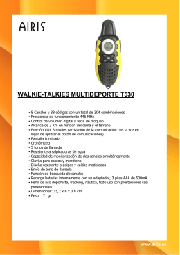 WALKIE-TALKIES MULTIDEPORTE T530