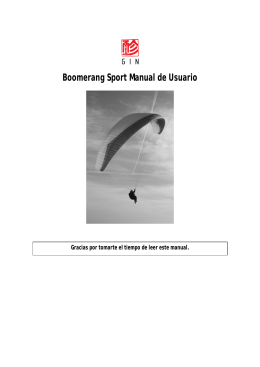Boomerang Sport Manual de Usuario