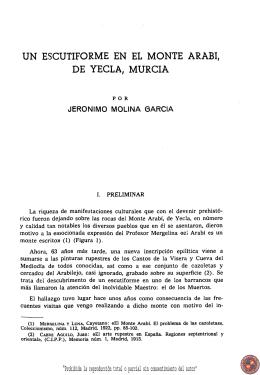 UN ESCUTIFORME EN EL MONTE ARABl DE YECLA, MURCIA