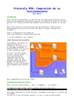 Protocolo MSN: Compresión de su funcionamiento
