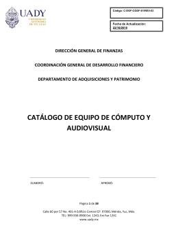 catálogo de equipo de cómputo y audiovisual