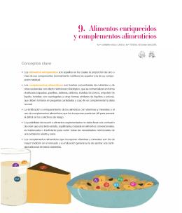 Capitulo 9. Alimentos enriquecidos y complementos alimenticios.