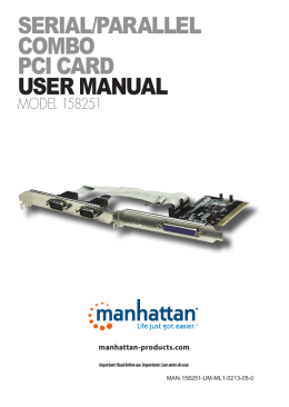 serial/parallel combo pci card user manual