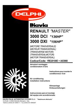 renault master _ mascott 3.0 dci_dxi