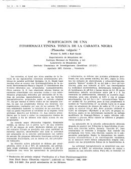 Purificación de una Fitohemaglutinina toxica de la caraota negra