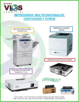 impresoras, multifuncionales, cartuchos y otros