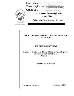 Servicio - Universidad Tecnológica de Querétaro