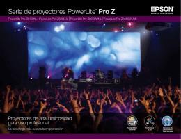 Serie de proyectores PowerLite® Pro Z
