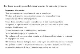 Por favor lea este manual de usuario antes de usar este producto.