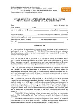 autorización para la participación de menores en