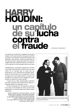 HARRY HOUDINI: un capítulo de su lucha contra el fraude