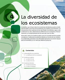 La diversidad de los ecosistemas