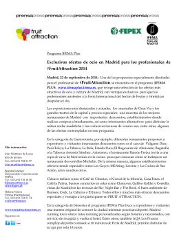 Exclusivas ofertas de ocio en Madrid para los profesionales