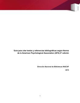 Guía para citar textos y referencias bibliográficas según