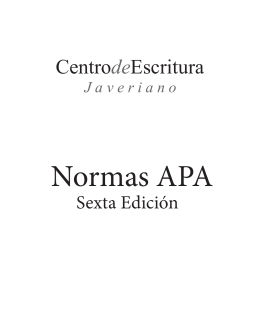 Normas APA - Iberoamerican Institute of the Hague