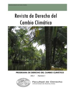 Revista de Derecho del Cambio Climático