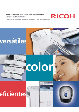 Ricoh Aficio series MP C2500/C3000 y C3500/C4500
