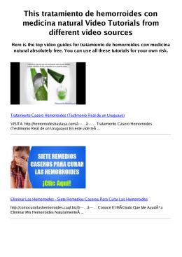 Z tratamiento de hemorroides con medicina natural PDF
