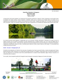 Costa Rica: Extensión a Tortuguero Mawamba Lodge 3 días / 2